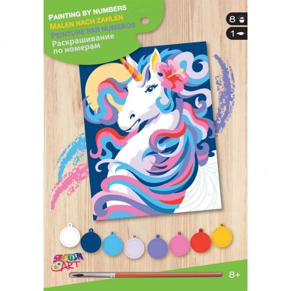 Schilderen op Nummer Unicorn