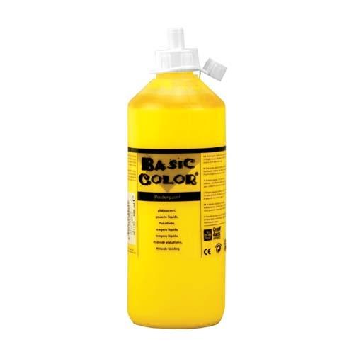 Plakkaat verf geel 500 ml