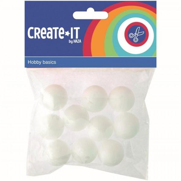 Create-It Polystyreen Bollen 2.5cm 10 Stuks