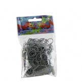 Loom Rainbow bands metallic zilver