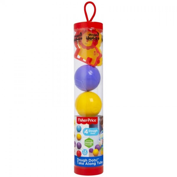 Fisher Price Dough 4 Ballen in Koker met Vormen