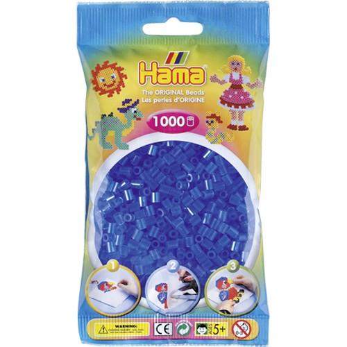 Hama Strijkkralen Blauw Doorzichtig (015)