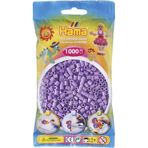 Hama strijkkralen pastel paars (045)