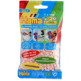 Hama Strijkkralen Rood - Glow In The Dark (056)