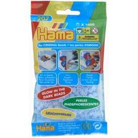 Hama Strijkkralen Glow in the Dark Blauw (057)