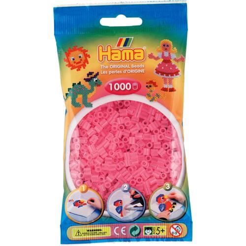 Hama Strijkkralen roze transparant 1000 stuks (72)