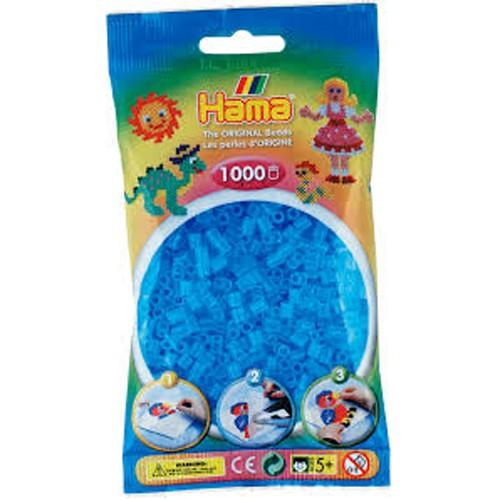 Hama Strijkkralen 1000 stuks blauw transparant (73) Hama