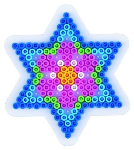 Hama strijkkralen grondplaat ster (270)