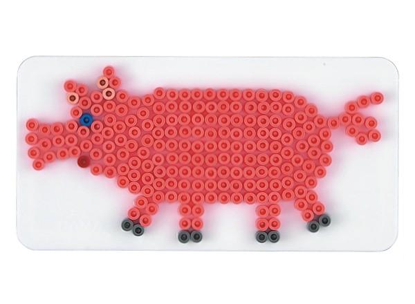 Hama strijkkralen grondplaat varken wit (271) Hama