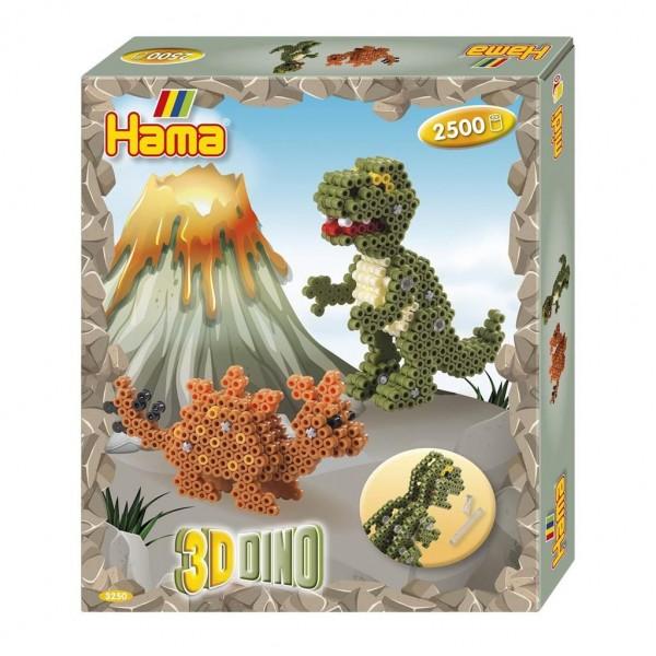 Hama Strijkkralen Gift Box 3D Dino (2500)