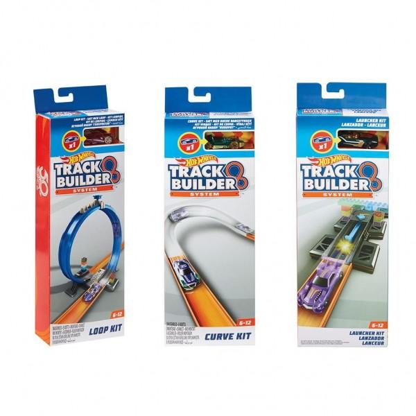 Hot Wheels Track Builder Lanceerset grijs-blauw