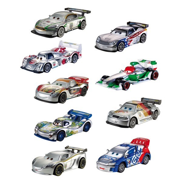 Auto disney cars silver racer singles for Cars autootjes