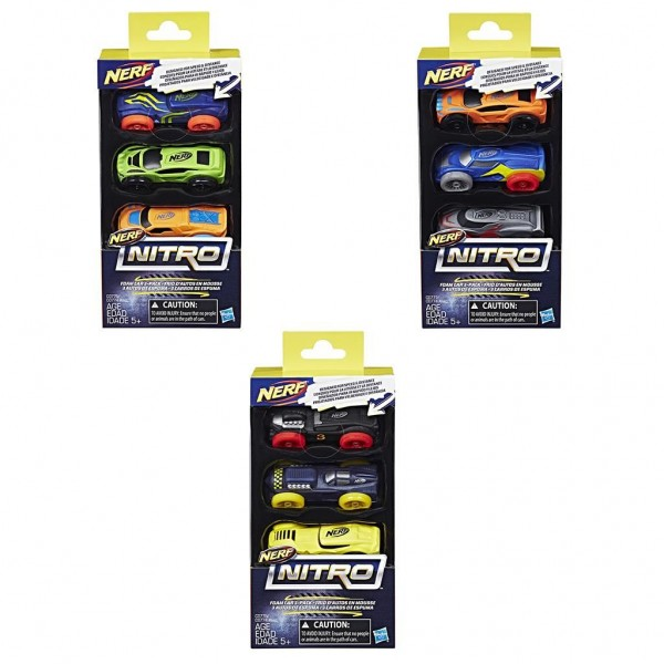 Nerf nitro Foam Car 3 Pack