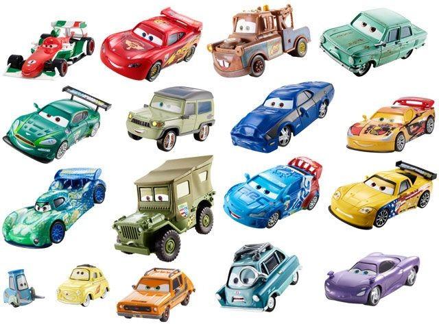 Cars 2 diecast auto assortiment for Cars autootjes