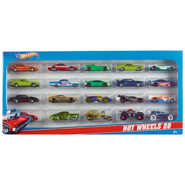 Hot Wheels 20 auto's giftset assorti H7045