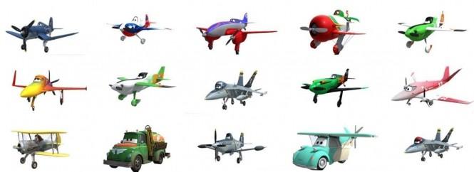 Planes Namen Figuren