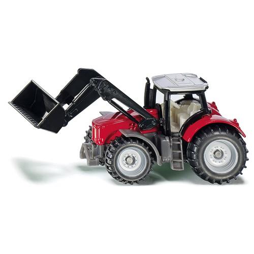 1484 Siku Tractor Massey Ferguson met frontlader