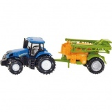 1668 Siku Tractor New Holland met Veldspuit
