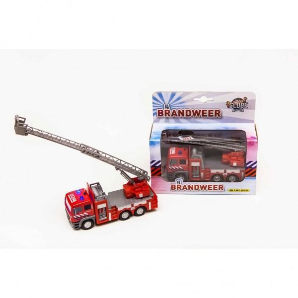 Kids Globe Auto Brandweer Met Ladder Spuit