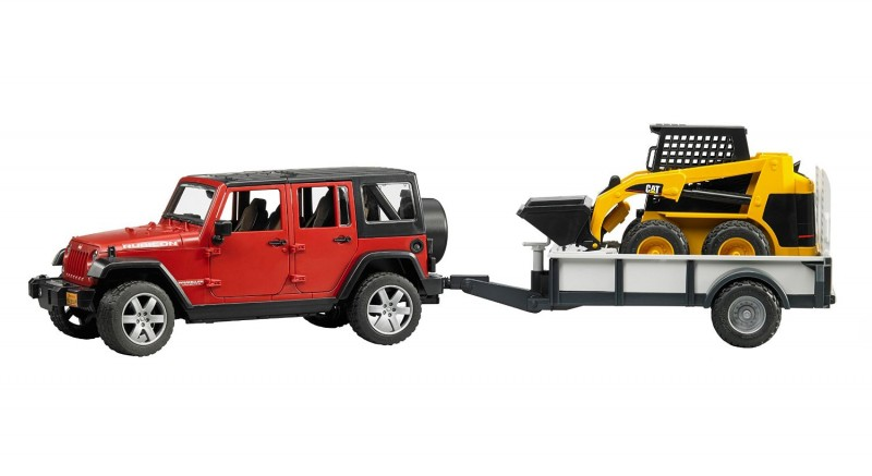 2925 Bruder Jeep Wrangler met CAT Shovel