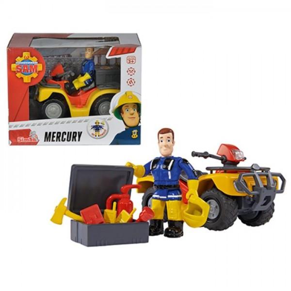 Brandweerman Sam Quad Mercury Met Sam