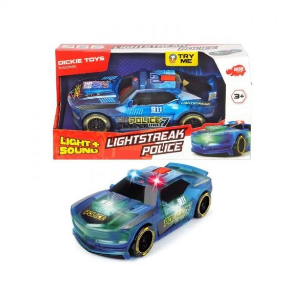 Auto Lightstreak Police B/O 20Cm