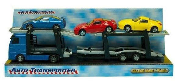 Autotransporter met 3 auto's