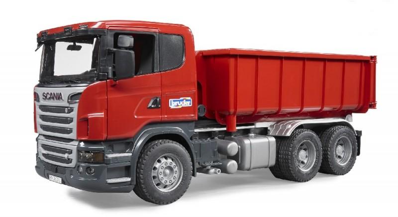 3522 Bruder Vrachtwagen Scania met Afrolcontainer