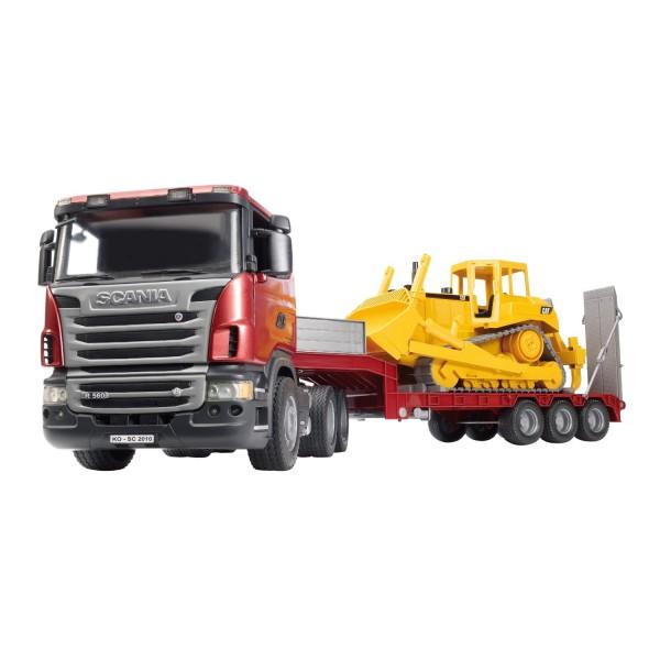 3555 Bruder Scania Vrachtwagen met Caterpillar