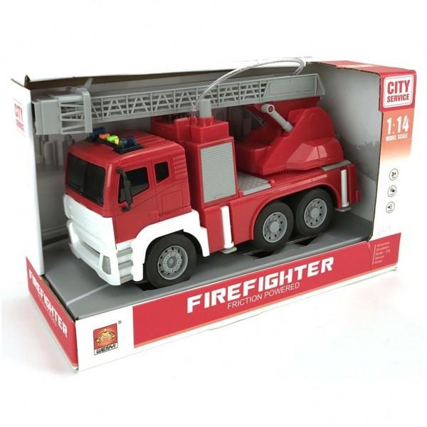 Brandweerwagen met Pomp B/O 30cm