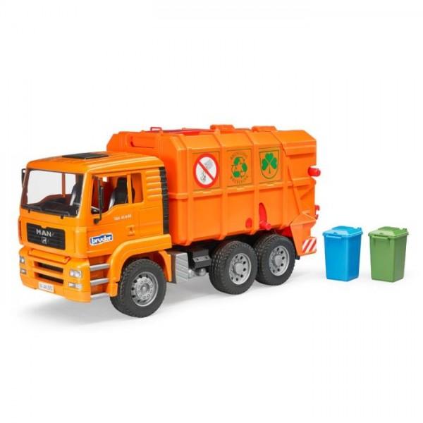 2760 Bruder Vuilniswagen Oranje