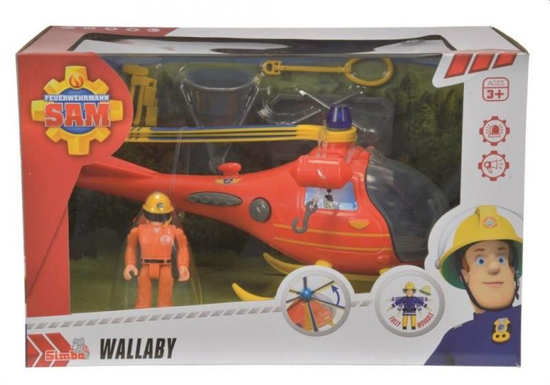 Brandweerman Sam Wallaby Heli met Figuur
