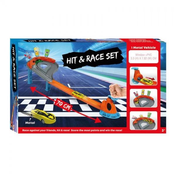 Racebaan Hit & Run Met Auto