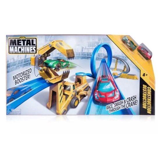 Metal Machines Construction Destruction Set, Racebaan met Diecast Auto