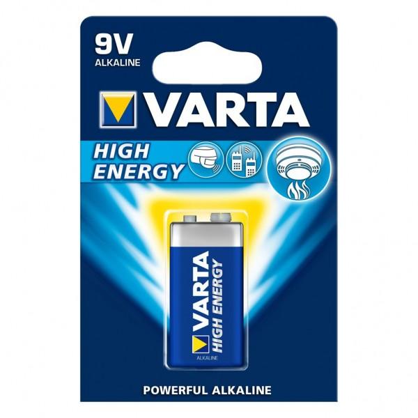 Batterij Alkaline 9 Volt Varta