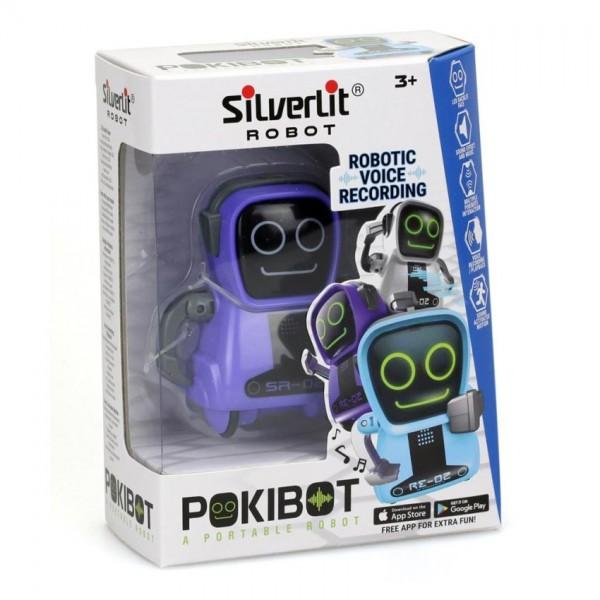 Silverlit interactieve robot Pokibot 8 cm paars