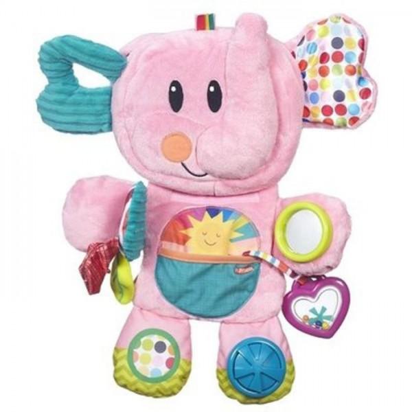 Playskool Pluche Opvouwbare olifant roze