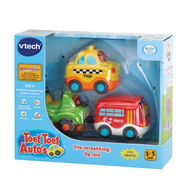 Vtech Toet Toet auto's 3-pack - Op reis