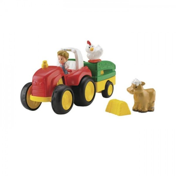 Jumbo Tractor Tow : Fisher price little people tractor tow n pull