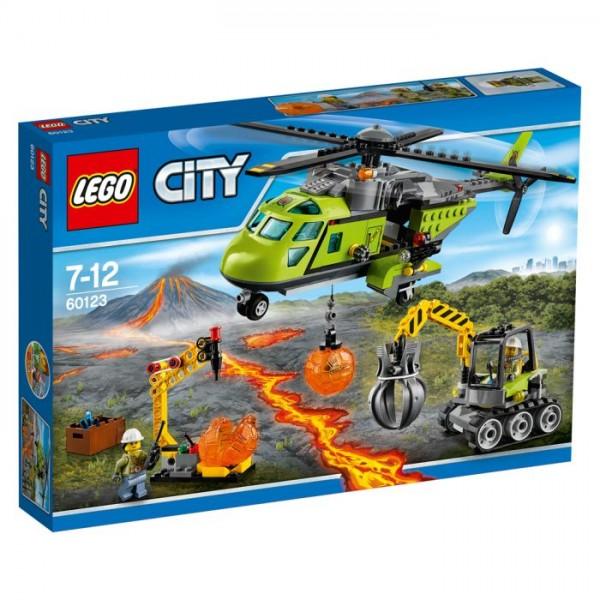 60123 Lego City Vulkaan Bevoorradingshelikopter