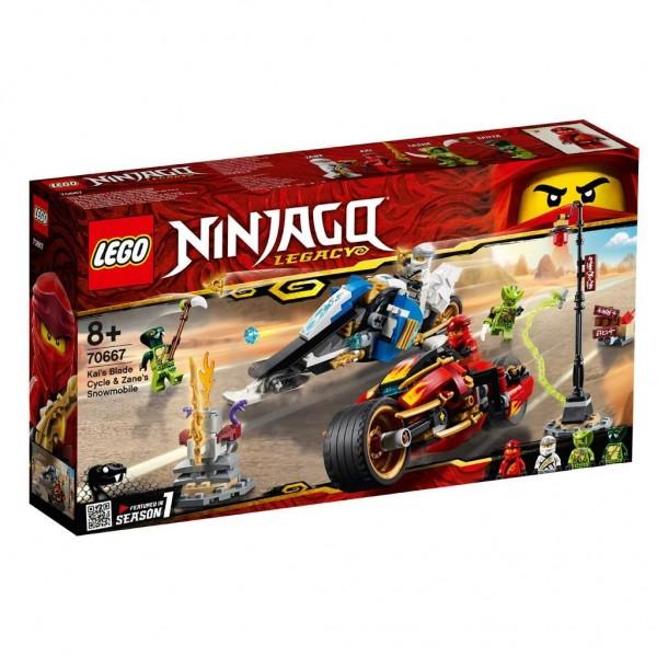 70667 Lego Ninjago Zwaardmotor Van Kai En Sneeuwscooter Van Zane