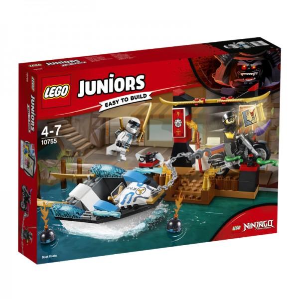 10755 Lego Juniors Zane's Ninjaboot achtervolging