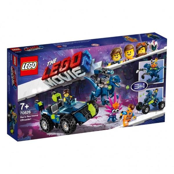 70826 Lego Movie 2 Rex's Rex-Treme Offroader