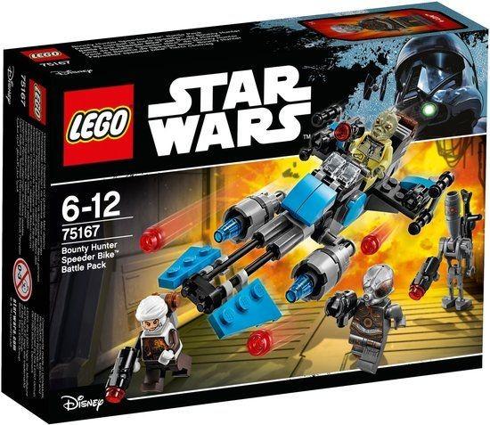 75167 Lego Star Wars Bounty Hunter Speeder Bike Battle Pack