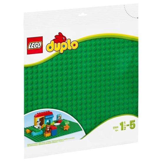 2304 Lego Duplo Bouwplaat Groen 24x24cm Noppen