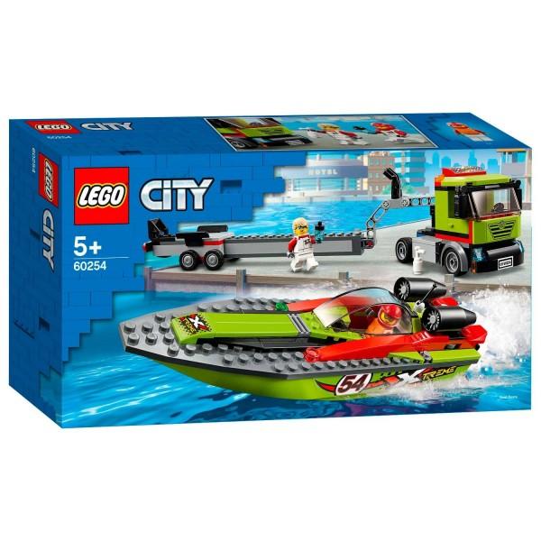 60254 Lego City Raceboot Transport