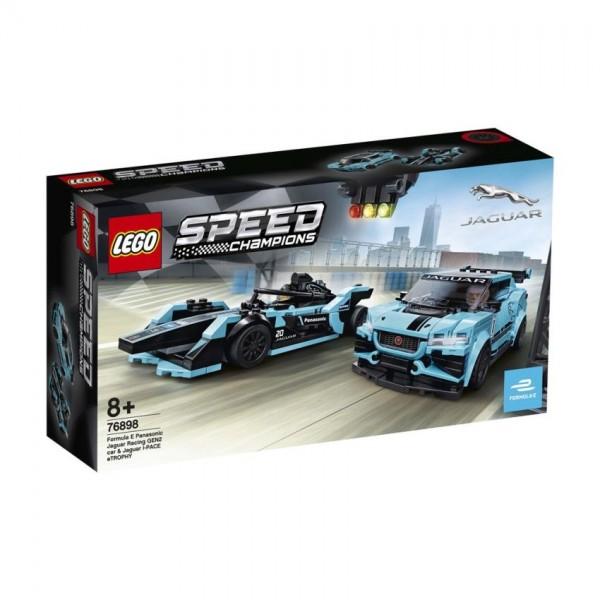 76898 Lego Speed Formula E Panasonic Jaguar Racing Gen2 Car&Jaguar