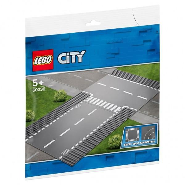 60236 Lego City Rechte Wegplaat en T-Splitsing