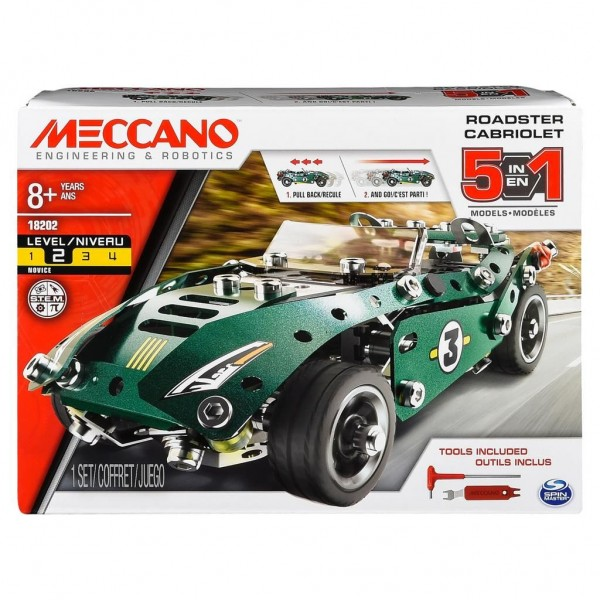 Meccano 5 Model Set Roadster