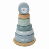 Little Dutch Tuimelringpiramide Blauw